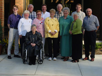 Photograph of Pat and the Society Board.